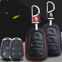 Wholesale Premium Leather Remote Key Holder Fob Case Cover For Cadillac ATSL XTS CT5 SRX Button