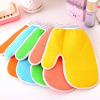 Wholesale 100pcs High Quality Shower bath towel bath Brushes bath gloves of mixed color bath bathing gloves