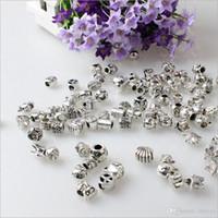 Wholesale 2015 Fashion Silver Pandora Charm Beads fit European Bead Bracelet Necklace Variety of Styles Shipped Randomly
