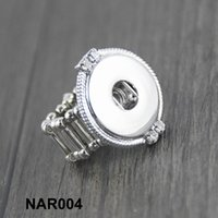 Wholesale 18mm snap button rhinestone stretch adjustable DIY ring Women high quality silver rings for ginger snap jewelry Fast