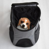 Wholesale Portable Cat Dog Pet Carrier Mesh Pup Pack Soft sided Outdoor Travel Backpack Colors