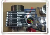 Wholesale A new motorcycle cylinder zontes zt150 a Hao Jiang HJ150 cylinder piston assembly piston pin is mm diameter is mm