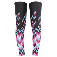 Wholesale High Elastic Lycra Sun Protection Riding Leg Cover Perspire Bicycle Riding Summer Sun Sweat Leg Cover Riding Leg Warmers Knee Cover Pink