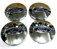 Wholesale 4pcs mm Silver Car Wheel Hub Case Center Cover Caps Emblem Logo Badge Fit For Ford EDGE Explorer