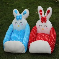 Wholesale Lovely Rabbit Dog Bed Pet supplies new cartoon rabbit cotton pet house sitters blue red and blue dog bed cat kennel