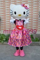 Wholesale Hotsale Mascot Costume Adult Size Hig Quality Love sweet Hello Kitty Cartoon Character Costumes Fancy Dress Suit
