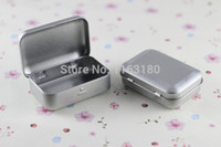 Wholesale 12 SURVIVAL KIT TIN HINGED LID Silver Small Empty Plain Metal Storage Bit Box Mini