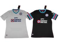 Wholesale 16 Mexico Cruz Azul Away White Black Soccer Jerseys Soccer Jersey Best Quality GIMENEZ CROSAS ROJAS Soccer Jersey Jerseys Football Jersey