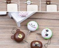 audio splitters - Cute Bear shape Supply Best Cool Face Way Microphone Headphone Mm Audio Splitters cute bear shaped
