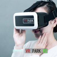 Wholesale VR PARK V2 Virtual Reality D Glasses Google Cardboard D VR GLASSES D Movie for quot quot Smart Phone white