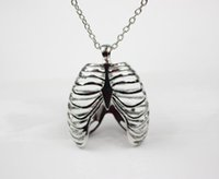 anatomical human skeleton - High Quality fashion New Anatomical Human Rib Cage Anatomy Pendants Vintage Necklace For womenFactory direct jewelry