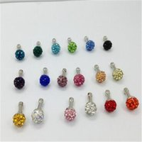 Wholesale 8 mm shining diamond monochrome ball dustproof plug for smart mobile phone with many colors mm Earphone Jack