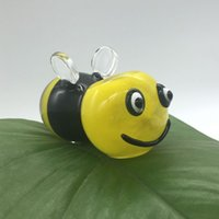 bee hands - 2016 New Heady Design Bee Spoon Shaped Hand Pipe Glass Oil Rigs Yellow and Black Length cm Cute Water Pipe