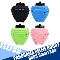 Wholesale RK03 Smart Degree Panorama Selfie Robot Remote Control With Movable Tripod For Smart Phone And Camera
