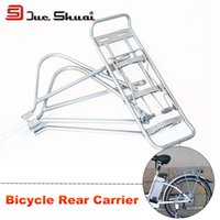 bicycle trailer cargo - 24 inch Bicycle Rear Carrier Adjustable Seat Rack Removable Bike Part Alloy Luggage Racks Accessories Silver Rear Cargo Rack