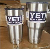 stainless steel coffee mug - HOT Sale OZ OZ OZ Yeti Cups Rambler Coolers Tumblerl Cup Coffee Mug Tumblerful Bilayer Vacuum Insulated Stainless Steel DHL Ship