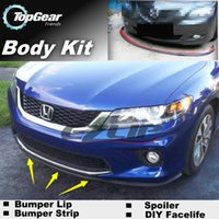 Wholesale The Stig Recommend Body Kit DIY Bumper Lip Lips For Honda Crosstour Front Skirt Deflector Spoiler For Car Tuning Strip
