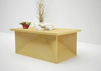 Wholesale Corrugated Carboard Desk Table Kraft Paper Furnitures Fashionable Creative Maganizations Combinet Storage boxes for Showroom Hotel Exhibiton