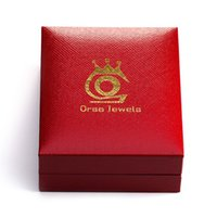 Wholesale ORSA Jewelry Jewelry Package Necklace Box Top Quality Jewelry Box for Necklace Red Color Gift Box Jewelry Boxes