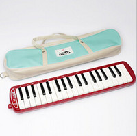 Wholesale Key red child professional Melodica with leather bag Student Melodica pianica Musical Instrument