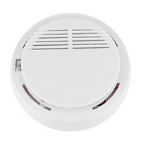 Wholesale DHL Wireless Home Security Smoke Detector Fire Alarm Sensor System High Sensitivity Stable LED DB V Battery