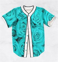 baseball shirt printing - 2 Colors Real USA size Custom made Roses D Sublimaiton Print Baseball Shirt plus size
