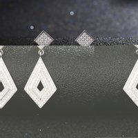 Wholesale New Square Black Stud Earrings for Men Sterling Jewelry Women Earing with Cubic Zirconia Bijoux Vintage Joyas Ulove JS1012