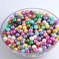 plastic pearl beads - Mixed Plastic Pearl Beads Acrylic Round Spacer Beads For Jewelry Necklace Bracelet making DIY mm ZZ00