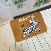Wholesale Floor Mats Animal Cute Cat Print Bathroom Kitchen Carpets House Doormats for Living Room Anti Slip Tapete Rug