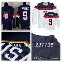 american hockey teams - Hot Sale Custom Team USA Hockey Jersey Zach Parise Jersey American Olympic Sochi Personalized Make Customized Blue White
