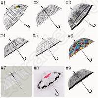 Wholesale Apollo Umbrella Sweet Transparent Clear Folding POE Rain Umbrella Creative Plastic Cage Monochrome Parasol designs OOA791