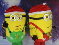 Wholesale Custom made Despicable Me Christmas Minion Mascot mascot costume for adults despicable me shipping fancy dress