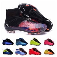 Wholesale 2016 Mercurial Superfly FG Kids Soccer Cleats Boots CR7 Cleats Youth Women Boy s Men s Football Soccer Shoes Eur Size