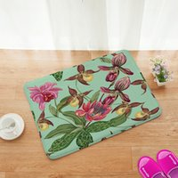 Wholesale Bathroom Flannel mats super absorbent doormat carpet Romance cartoon non slip mat cm
