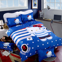 best fast printing - High quality with best price Hello Kitty hot Bedding Set bed cover let Set full queen Size fast shipping