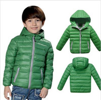 Wholesale Retail New Children outerwear boys girls Winter Thick warm Solid fashion coats jackets Kids Korean Down Parkas Years Baby