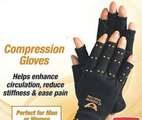 Wholesale 1pair NEW Copper Hands Arthritis Gloves Therapeutic Compression Men Woman Circulation Grip