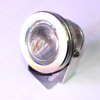 Wholesale silver cover led underwater pool light convex lens underwater led lamp red blue green underwater led lights IP68 W