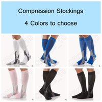 Wholesale 4 Colors Unisex Compression Stocking Protect Feet Breathable Wicking Compression Socks Running Basketball Football Sport Sock CCA5055 pair