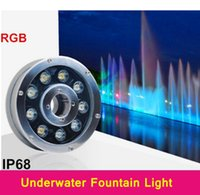 Wholesale Retail Underwater Lights Fountains IP68 Led W W W W RGB Led Swimming Pool Lights AC V V Waterproof Led Lights