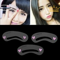 Wholesale 3 Styles Grooming Stencil MakeUp Shaping DIY Beauty Eyebrow Template Stencils Make up Tools Accessories