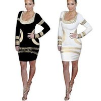 Wholesale Sexy Scoop Neck Long Sleeve Print Bodycon Dress for Women