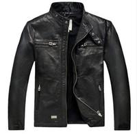 Wholesale Hot Sale Factory Men Leather Jacket Genuine Real Sheepskin Leather Fashion Brand Short Man s Motorcycle Biker Coat Spring winter