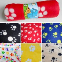 Wholesale 1Pc Pet Small Medium Large Paw Print Blanket J00007 FSH