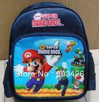Wholesale by DHL UPS High Quality Suuper Mario Children s School Bag Rucksack Cartoon School Backpack G2316