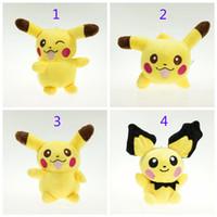 Cheap 6 Inch Poke Pokémon Pikachu Plush dolls toys EMS 15cm 4 style children Pikachu Charmander Jeni turtle Poke Ball Plush dolls toy B001