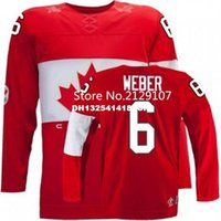 Cheap Retro throwback #6 Shea Weber Team Canada Jersey OLYMPIC HOCKEY Fast free shipping Customize any size player name number