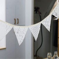 Wholesale 2016 New Arrival Flags M Lace Fabric Banners Wedding Decoration Bunting Party Garland Decor