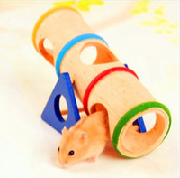 best hamster cage - Hamster Mouse Rat Seesaw Hide Toy Wooden Colorful Cage Cask House Your Best Choice