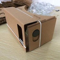 Wholesale DIY Google Cardboard Mobile Phone Virtual Reality D VR Glasses for iphone plus plus Samsung S7 S6